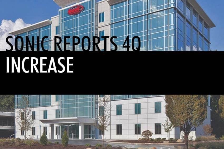Sonic Reports 4Q Increase