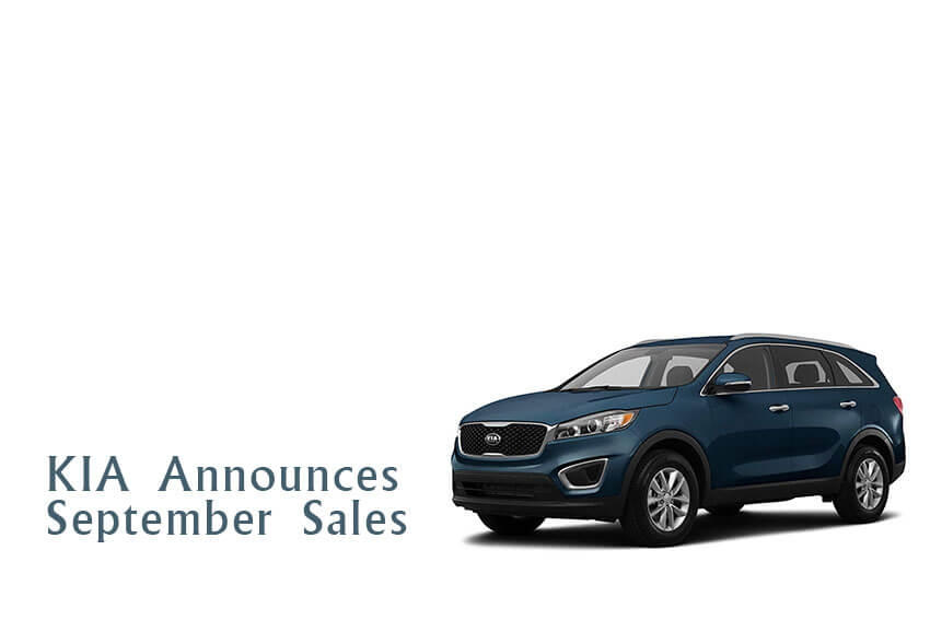 KIA Announces September Sales