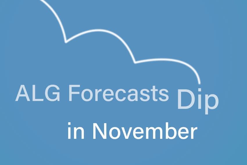 ALG Forecasts Dip in November