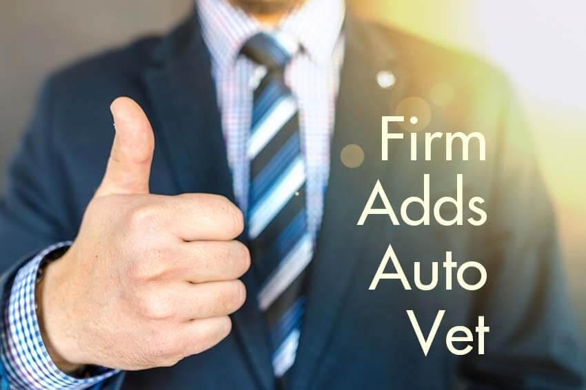 Firm Adds Auto Vet