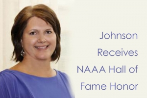 Johnson Receives NAAA Hall of Fame Honor