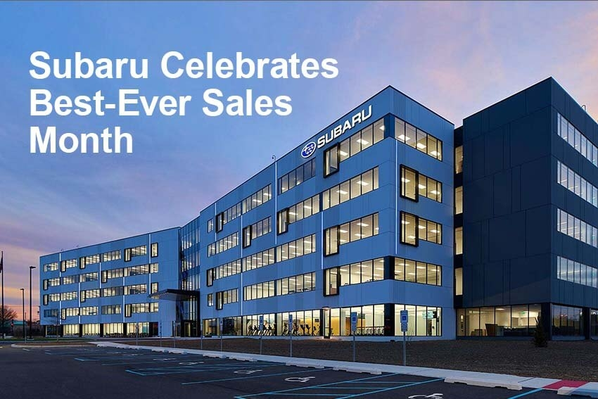 Subaru Celebrates Best-Ever Sales Month