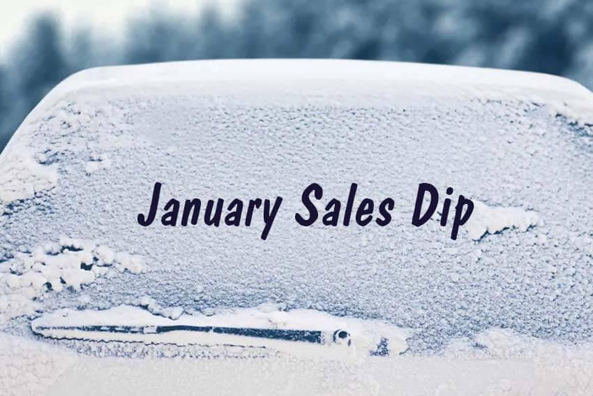 January Sales Dip
