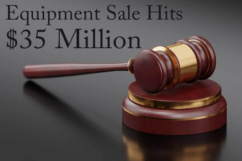 Equipment Sale Hits $35 Million