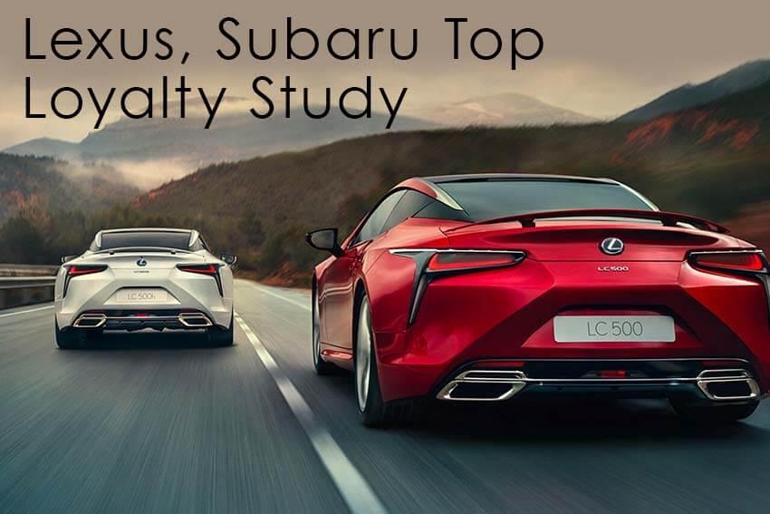 Lexus, Subaru Top Loyalty Study