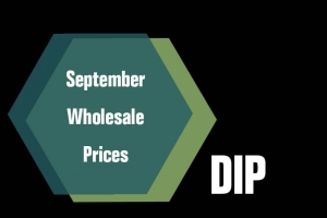 September Wholesale Prices Dip