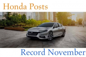 Honda Posts Record November