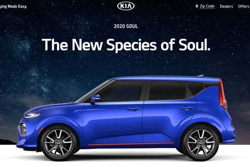 Kia Redesigns Website