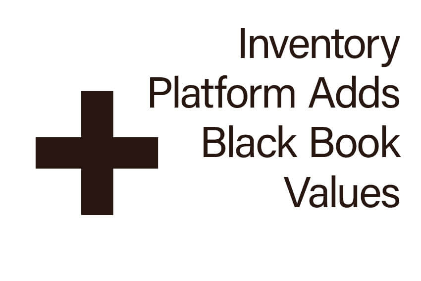 Inventory Platform Adds Black Book Values