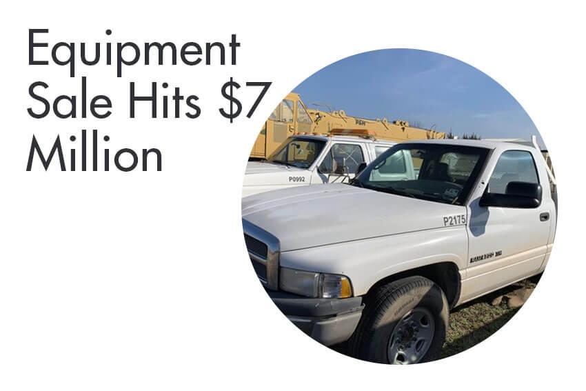 Equipment Sale Hits $7 Million