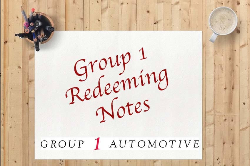 Group 1 Redeeming Notes