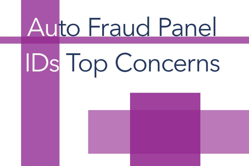Auto Fraud Panel IDs Top Concerns