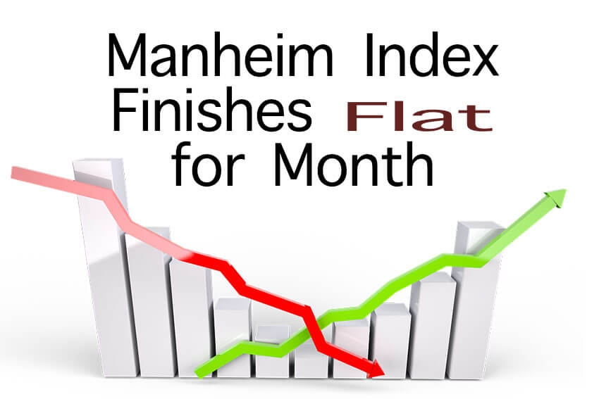 Manheim Index Finishes Flat for Month