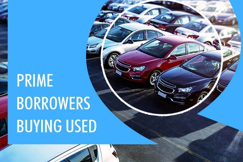 Prime Borrowers Buying Used
