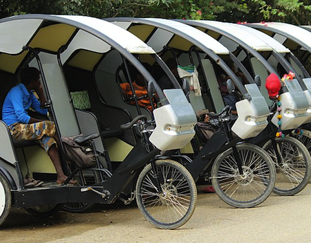 E-Rikshaws are growing in popularity Jolta sells one too