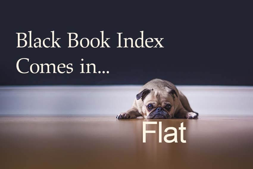 Black Book Index Comes in Flat