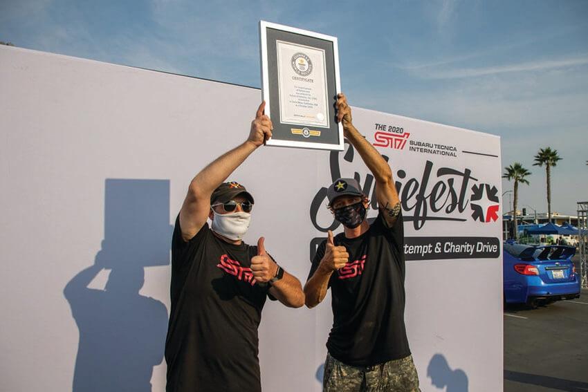 Subaru Sets Guinness Record