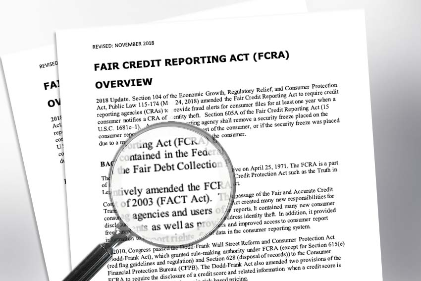 FTC Approves Revisions to FCRA