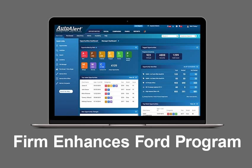 Firm Enhances Ford Program