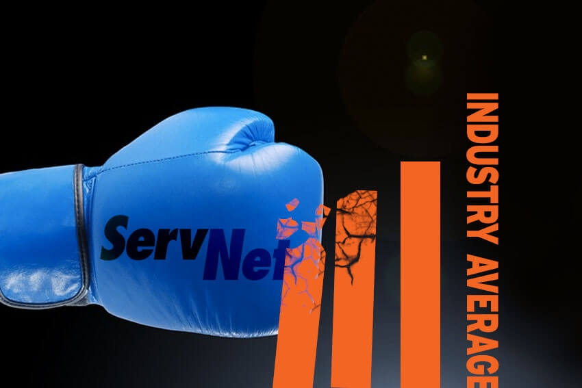 ServNet Beats Industry Average