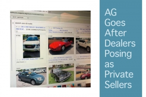 AG Goes After Dealers Posing as Private Sellers