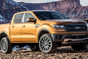 2019 Ford Ranger SuperCrew painted with Axalta's 2019 color of the year Sahara.