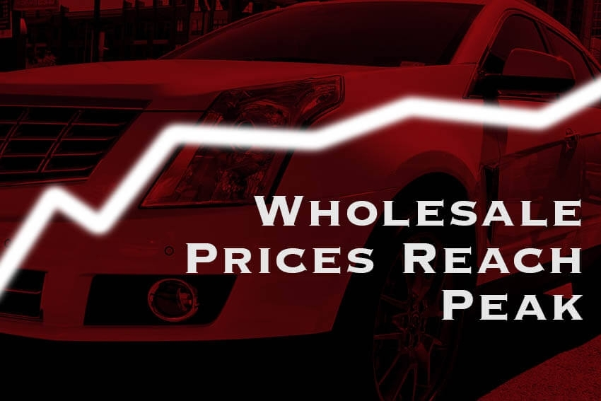 Wholesale Prices Reach Peak