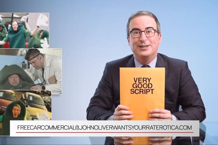 John Oliver Offers Car Dealerships Free Script to Make a Commercial
