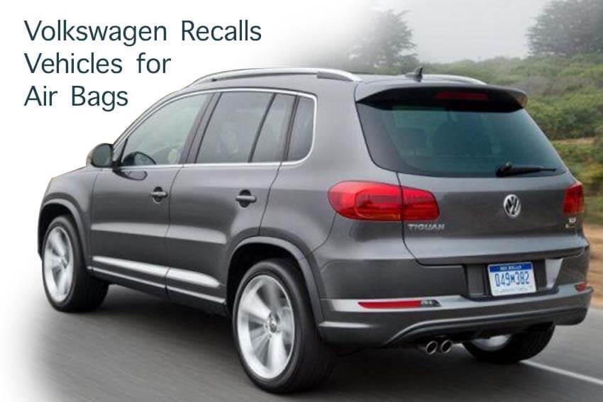 Volkswagen Recalls Vehicles for Air Bags